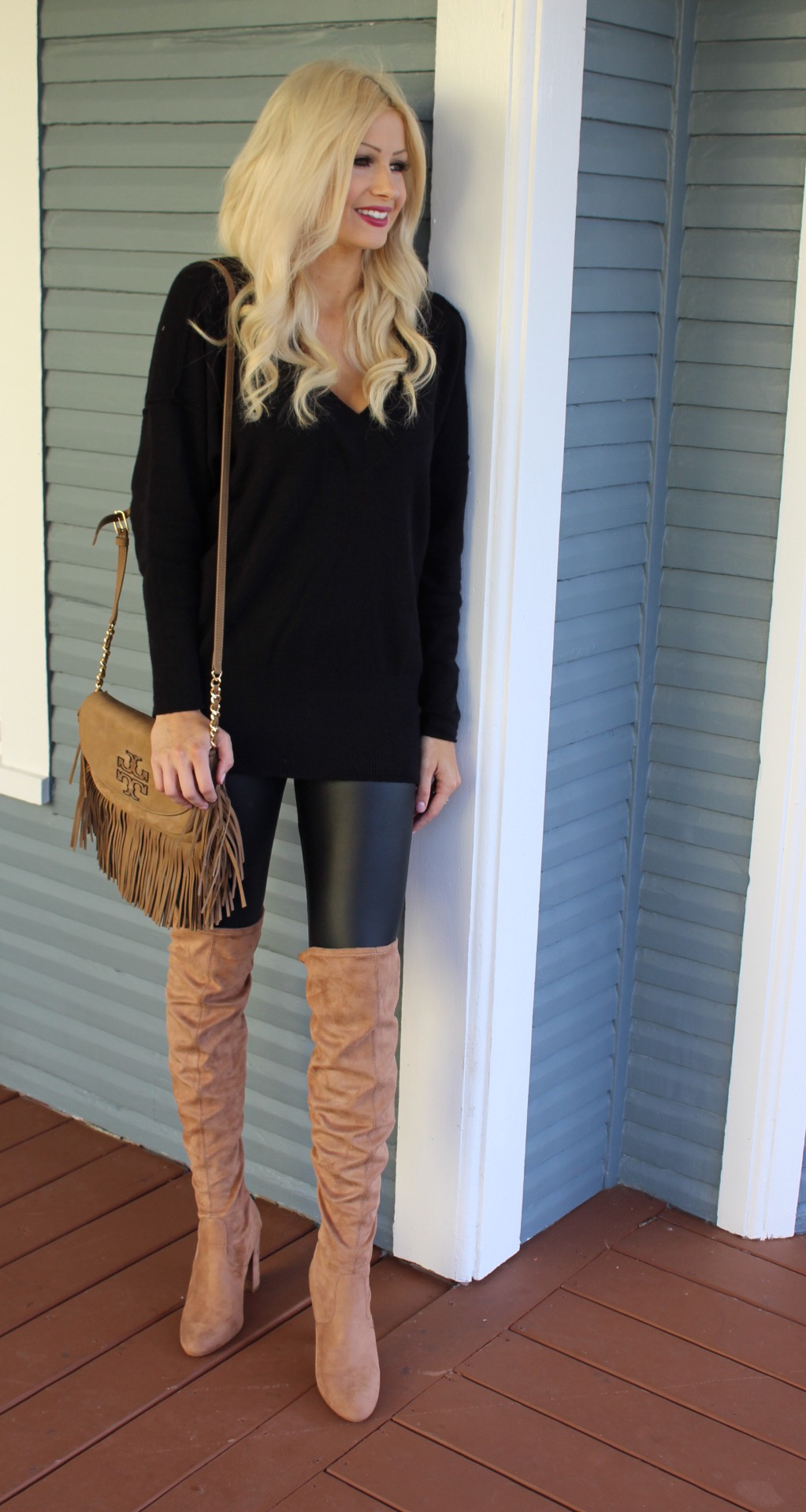 Leather Leggings Knee High Boots Duchessdanii